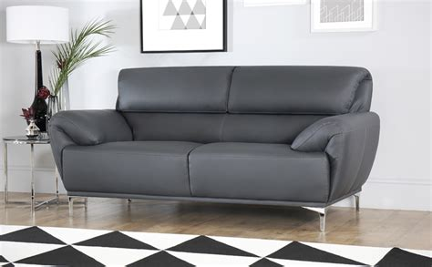 grey leather settee enzo grey leather sofa 2 seater only 163 399 99 furniture