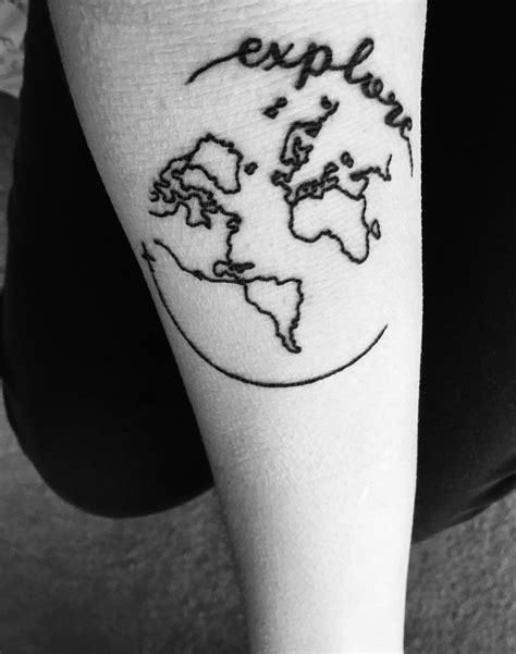 Small world tattoo! #travel #explore #tattoo #world | World tattoo