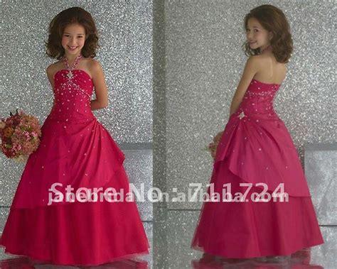 Halter Hot Pink Kids Dresses For Weddings-in Wedding