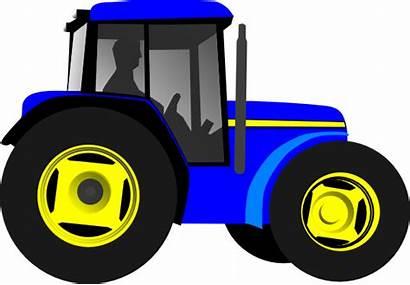 Tractor Clip Clipart Clker Vector Hi