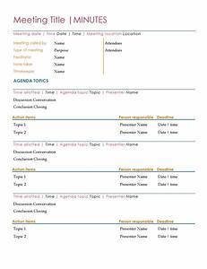 recording minutes template - minutes