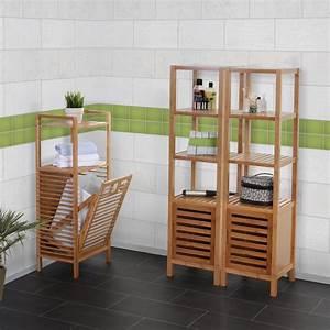 Wäschekorb 3 Teilig : badezimmer set nara badschrank standregal w schekorb bambus 3 teilig ebay ~ Buech-reservation.com Haus und Dekorationen