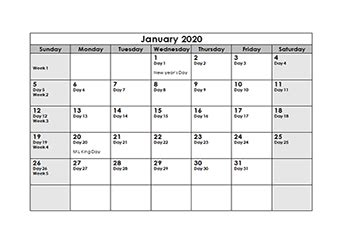 printable  julian date calendar calendarlabs