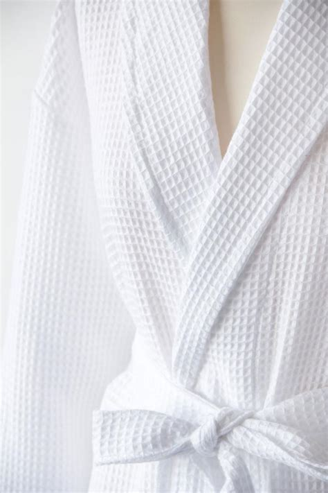 personalised white waffle cotton dressing gown