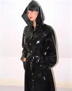 black rubber hooded raincoat macintosh pinterest