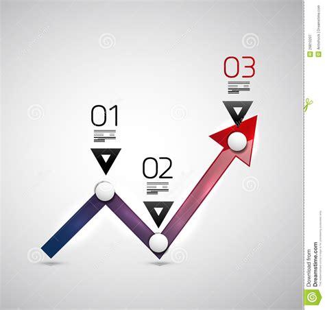 modern infographic design template arrow graph royalty