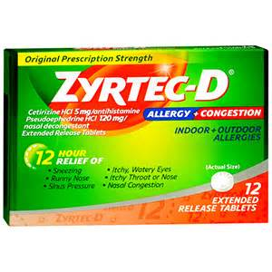 cat allergy medicine zyrtec d allergy congestion 12 hour tablets 12 ea