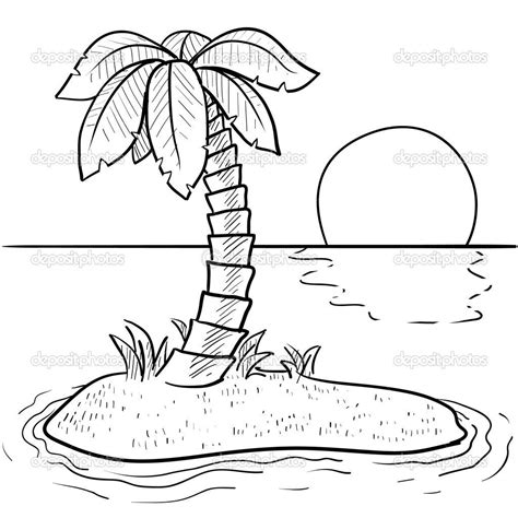 Island Coloring Pages Tropical island coloring pages