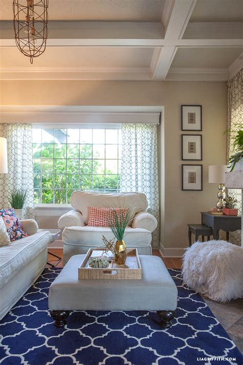 coral living room update  summer lia griffith