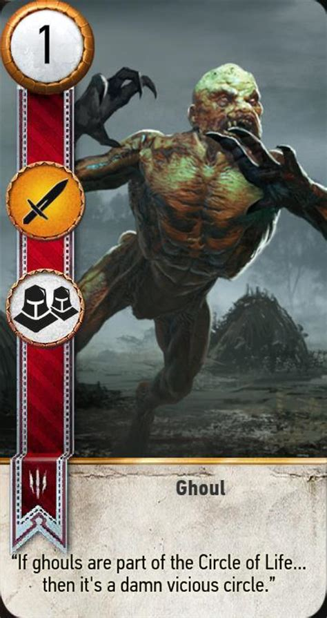 ghoul gwent card  witcher  wiki
