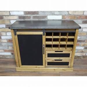 Meuble Bar Industriel : meuble bar cave vin style industriel ~ Teatrodelosmanantiales.com Idées de Décoration