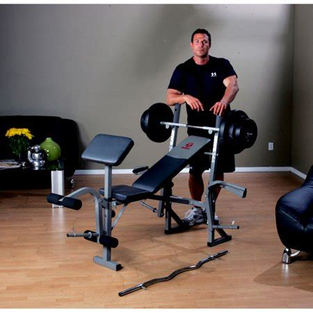 weight set with bench marcy standard bench with 100 pound weight set walmart