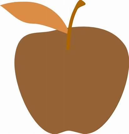 Apple Tan Clipart Brown Leaf Clip Cliparts