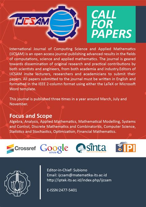 call  papers international journal  computing science