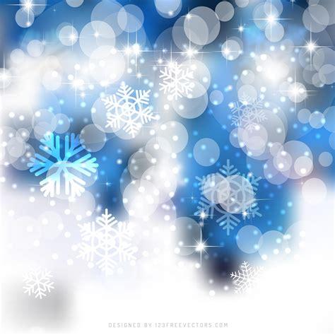 blue white christmas bokeh lights background design