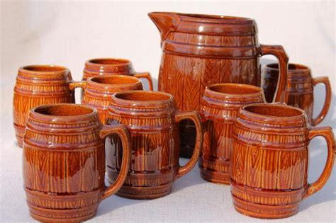 Vintage Mccoy Stoneware Pottery Old Oaken Barrel Beer