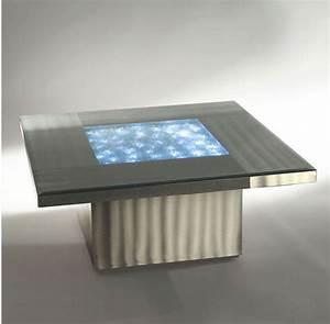 Modern Illuminated Coffee Table Neo Contemporary