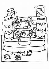 Castle Bouncy Coloring Amusement Colour Colouring Castles Sheets Printable Drawing Discover sketch template