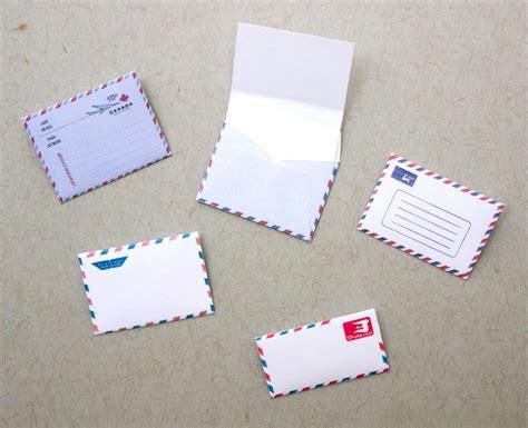 miniature par avion envelopes printies mini office