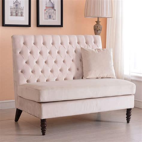 Modern Settee Loveseat by Shop Belleze Modern Loveseat Bench Sofa Tufted Settee High