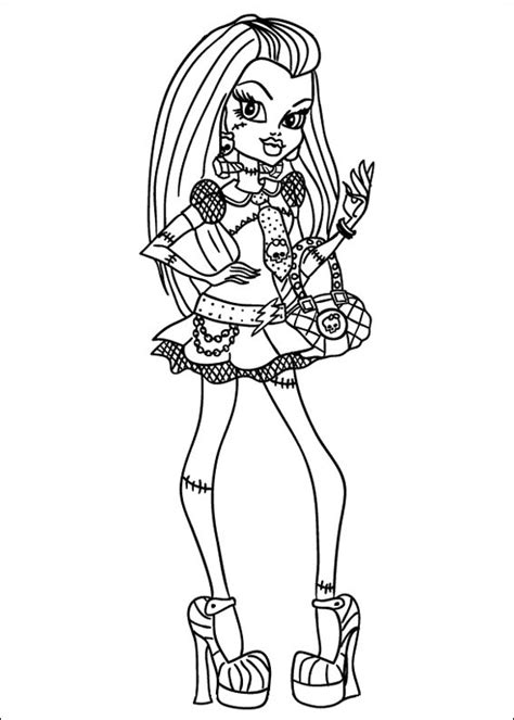 descargar dibujos  colorear de monster high imprimir