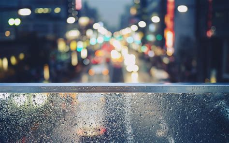 bokeh city street hd wallpaper background images