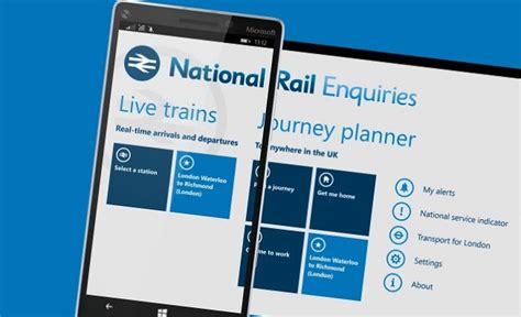 Official National Rail Enquiries For Windows Phone In The Uk