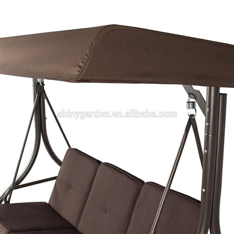 3 sets modern converting outdoor patio metal swing chair