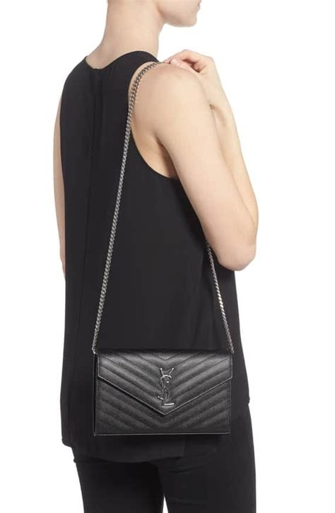 saint laurent monogramme quilted leather wallet   chain nordstrom wallet   chain