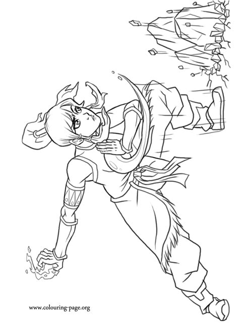 Avatar Kleurplaat by Avatar Legend Of Korra Coloring Pages Coloring Home