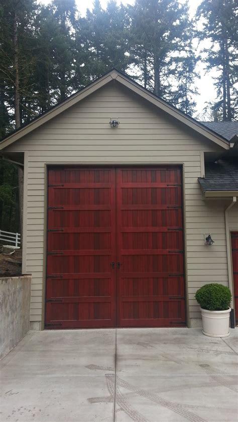 garage doors portland bi fold carriage style garage door and rv port portland
