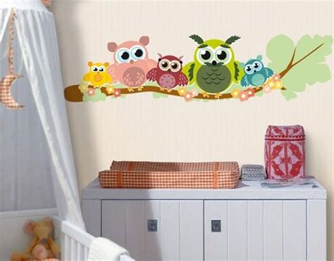 Wandtattoo Babyzimmer Eule Nocg216 Eulenfamilie Ideen