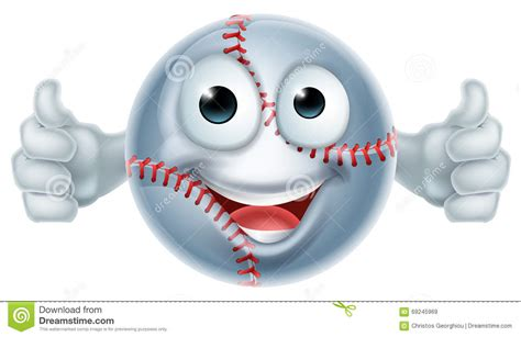 Cartoon Softball Ball Man Character Stock Vector