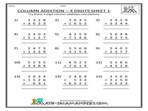 worksheet four digit subtraction grass fedjp worksheet