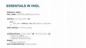 Vhdl Basics Part 1