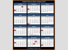 Federal Reserve Bank Holidays 2016 – Holidays Tracker