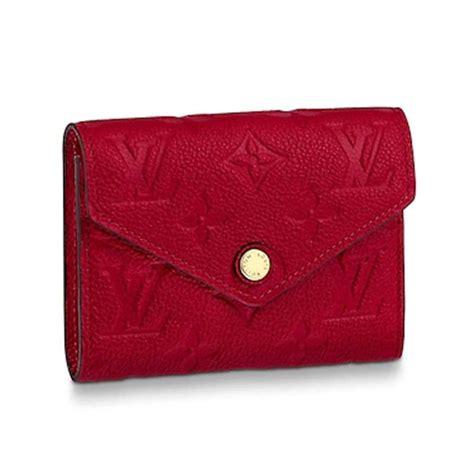 louis vuitton lv women victorine wallet  monogram empreinte leather lulux