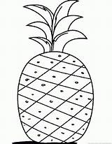 Pineapple Coloring 123coloringpages Ananas Fruit Kleurplaten Afkomstig sketch template