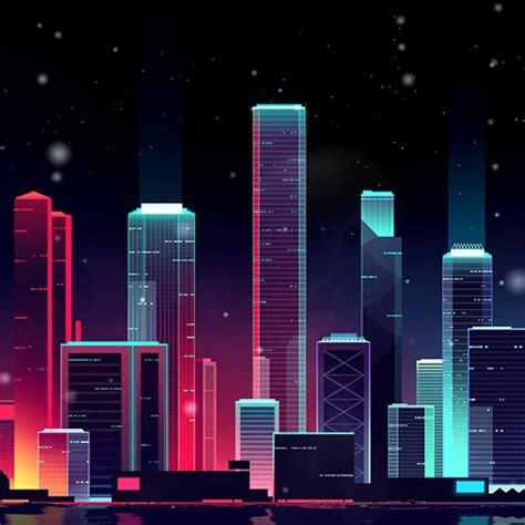 neon skyline wallpaper engine   wallpaper
