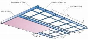 Faux Plafond Placo Sur Rail : plafond sur rail menuiserie image et conseil ~ Melissatoandfro.com Idées de Décoration