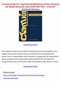 E Study Guide For Agricultural Marketing Pric By Shameka