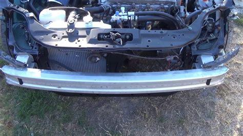 installing front bumper reinforcement youtube