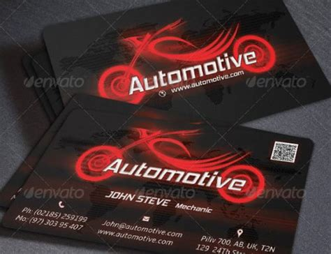 automotive business card design templates pixel
