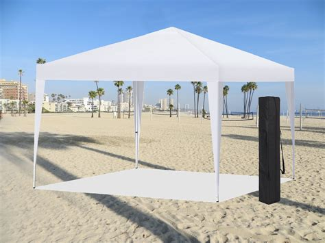easy pop instant canopy party event shelter beach tent white ez setup econosuperstore