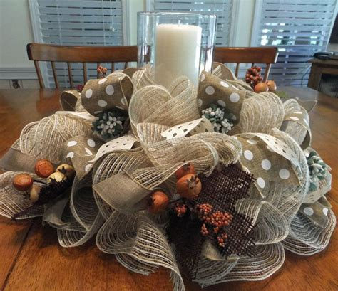 christmas table wreath centerpieces table centerpiece fall wreath deco mesh table decoration
