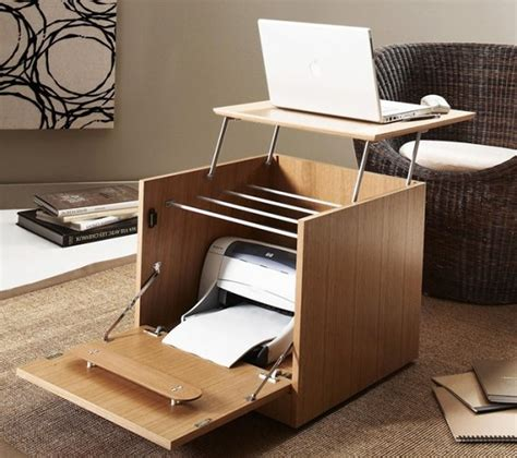 desks for small spaces with storage creative portable home office desk with printer storage