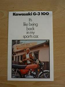 Kawasaki Brochure Poster G3 100 Owners Manual G