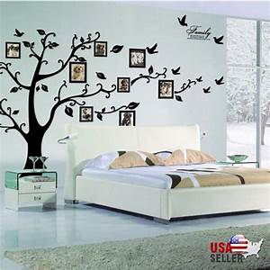 family tree wall decal sticker large vinyl photo picture With awesome family tree wall decal with frames