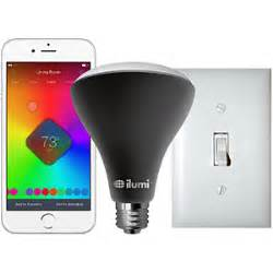 iphone controlled lights ilumi outdoor bluetooth smart led br30 flood light bulb