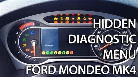 ford mondeo mk hidden diagnostic menu  needle sweep